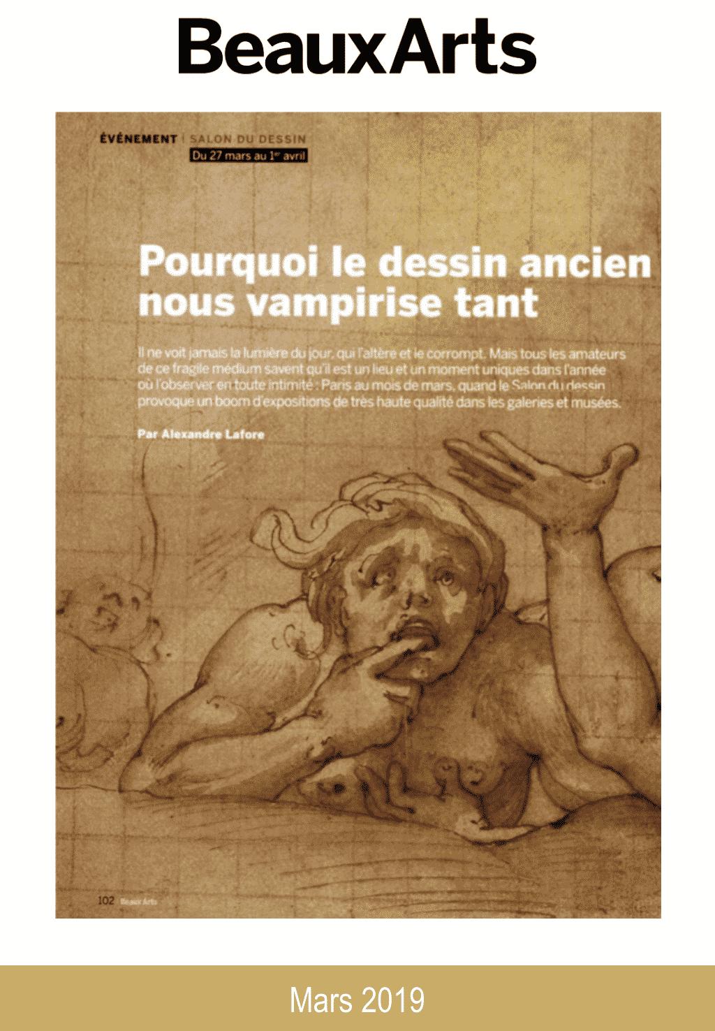 Presse Salon du dessin 2019 Beaux-Arts Magazine